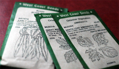 Seeds from West Coast Seeds